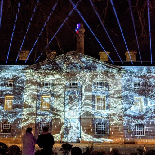 Projection and beam showcase at Illuminate